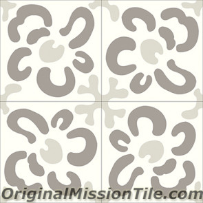 Original Mission Tile Cement Santa Barbara Wall Flower - 8 x 8