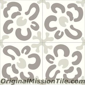Original Mission Tile Cement Santa Barbara Wall Flower - 8 x 8