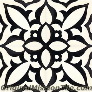 Original Mission Tile Cement Contemporary Zebra 01 - 8 x 8
