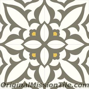Original Mission Tile Cement Classic Zebra 03 - 8 x 8