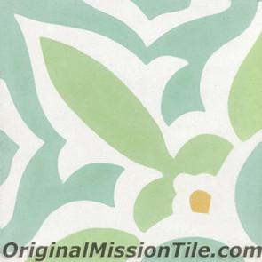 Original Mission Tile Cement Classic Zebra 04 - 8 x 8