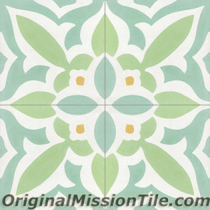 Original Mission Tile Cement Classic Zebra 04 - 8 x 8