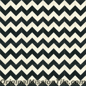 Original Mission Tile Cement Contemporary Zig-Zag II 01 - 8 x 8