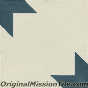 Original Mission Tile Cement Classic Estrella Mexico II 04 - 8 x 8