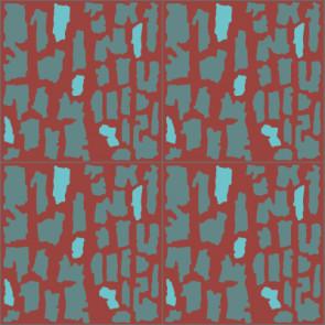 Original Mission Tile Cement Laura Gottwald Craquelure - 8 x 8