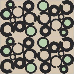 Original Mission Tile Cement Laura Gottwald Macrame - 8 x 8
