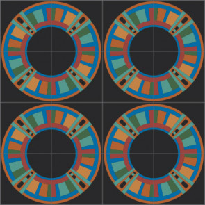 Original Mission Tile Cement Laura Gottwald Nomad - 8 x 8