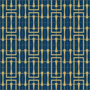 Original Mission Tile Cement Laura Gottwald Odile - 8 x 8