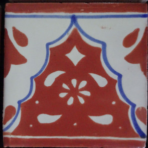 Sierra Brown/Blue Decorative Talavera Blanco