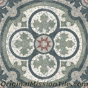 Original Mission Tile Cement Terrazzo Philadelphia SL - 8 x 8