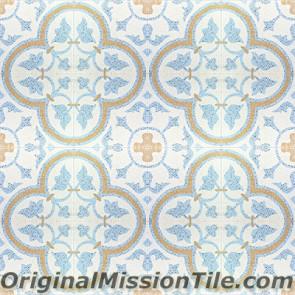 Original Mission Tile Cement Terrazzo Roseton - 8 x 8