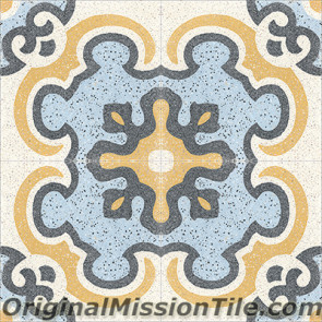 Original Mission Tile Cement Terrazzo Toulouse - 8 x 8